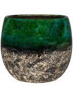 Bloempot Lindy 23 cm Green Black