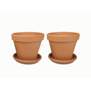 Terracotta bloempotten 31 cm met schotel duo set