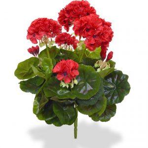 Geranium kunstplant boeket 40 cm rood