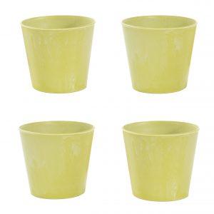 Groene sierpot 4-pack (gerecycled kunststof voor potmaat 12)