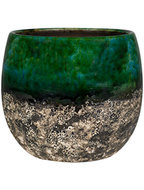 Bloempot Lindy 19 cm Green Black